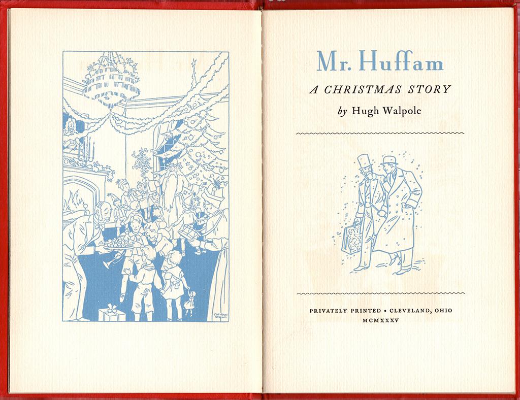 Hugh Walpole Mr Huffam A Christmas Story 1935 Corydon Bell