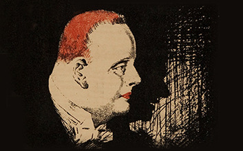 Portrait of a man with red hair - hugh walpole book