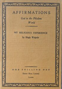 My Religious Experience - Hugh Walpole