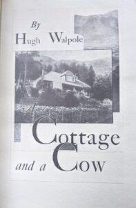a cottage and a cow - hugh walpole