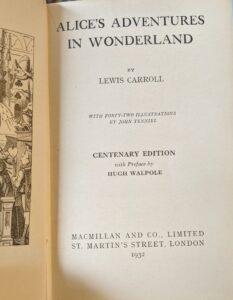 alices adventures in wonderland - hugh walpole