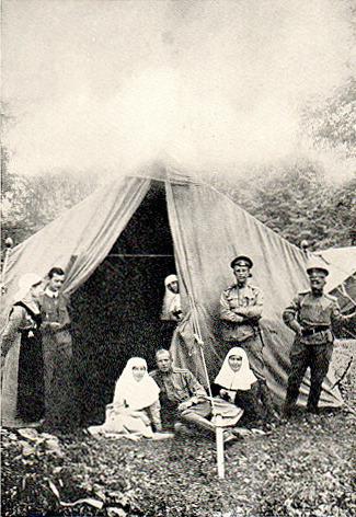 Hugh Walpole with Red Cross in Galicia