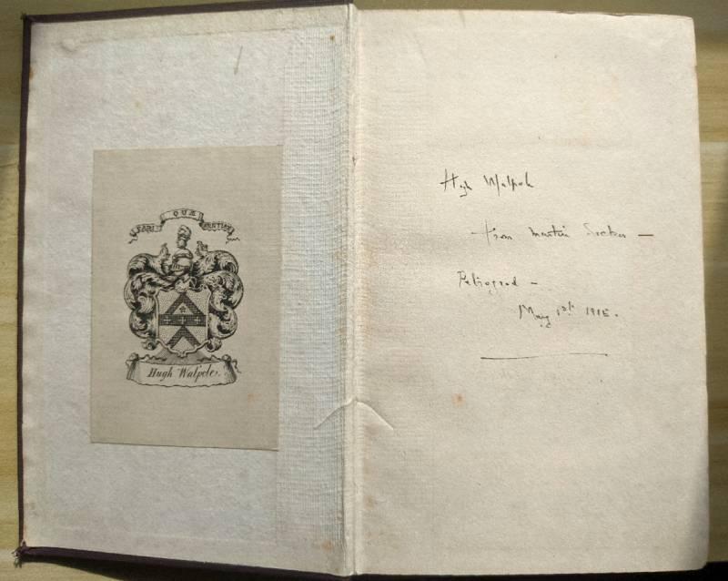 Hugh Walpole Inscription in The Turn Of The Screw