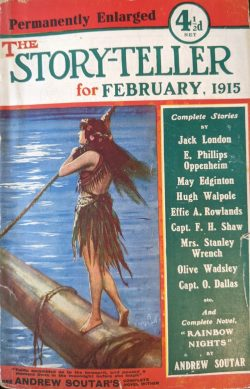 Hugh Walpole The Story-Teller Magazine 1915