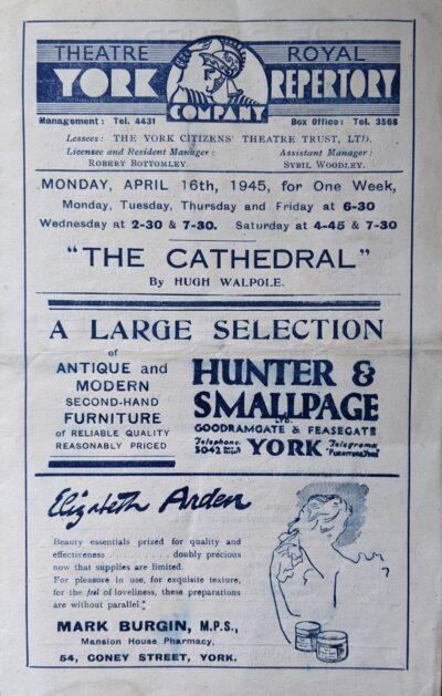 york-repertory-theatre-1945-hugh-walpole-cathedral